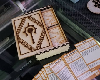 Laser Cutting Files - RPG Spell Card Box - SVG only