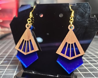 Laser Cutting Files - Art Deco Earrings - SVG only