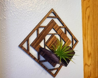 Laser Cutting Files - Air Plant Wall Hanger - SVG only