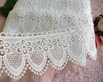 NEW 7yards CHIC Lampshade Trim 53mm Venise Lace~Victorian Tablecloth #472