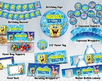 SpongeBob Printable Party Package