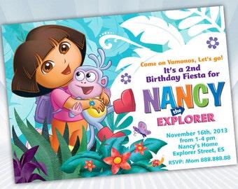 Dora Invitation Etsy