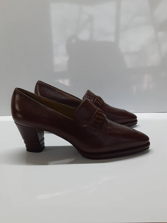 Rare Collector Yves Saint Laurent 70s pointed toe… - image 8