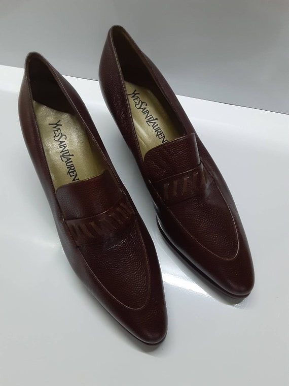 Rare Collector Yves Saint Laurent 70s pointed toe… - image 3