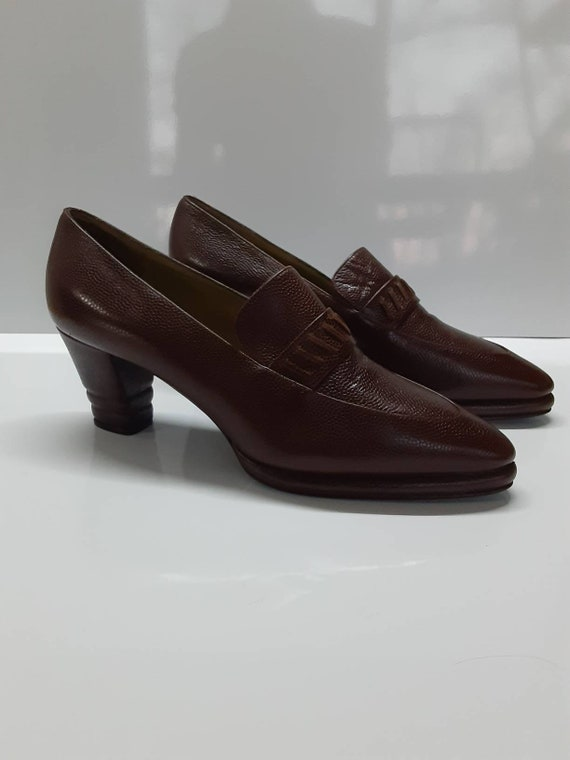 Rare Collector Yves Saint Laurent 70s pointed toe… - image 1