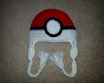 Crochet Pokeball Hat