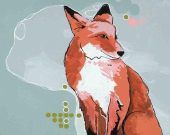 Foxy 12x12 print on high quality semi gloss archival paper