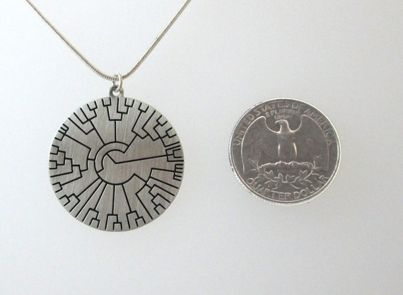 2pcs Phylogenetic Tree charm Hillis Plot Handcrafted Pendant silver tone 34x30mm
