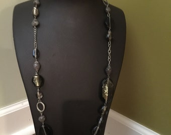 Smoky topaz colored necklace