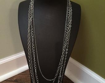 Multi strand silver chains
