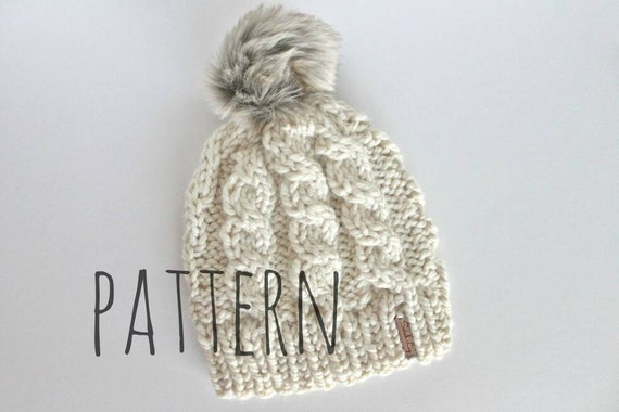 Knitting Pattern Bianca Hat Cable Knit Hat Cable Hat Etsy