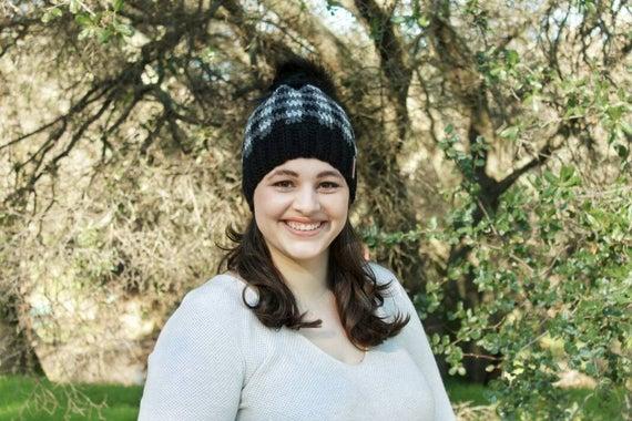 Women s Plaid Hat Gray Plaid Hat Buffalo Plaid Hat  1685d8e51b
