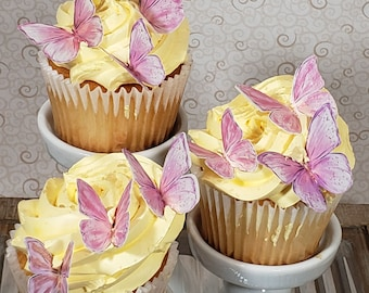 Edible Butterflies Made with Wafer Paper  (Item #B302)