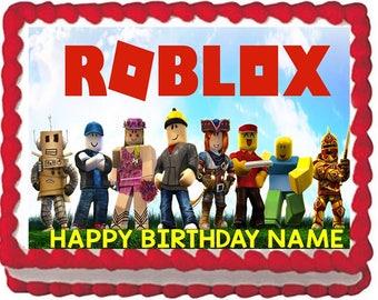 Roblox Edible Cake Topper Image, Roblox Cake, Roblox Birthday Party, Roblox Party Supplies, Roblox Quarter Sheet Edible, Edible Images