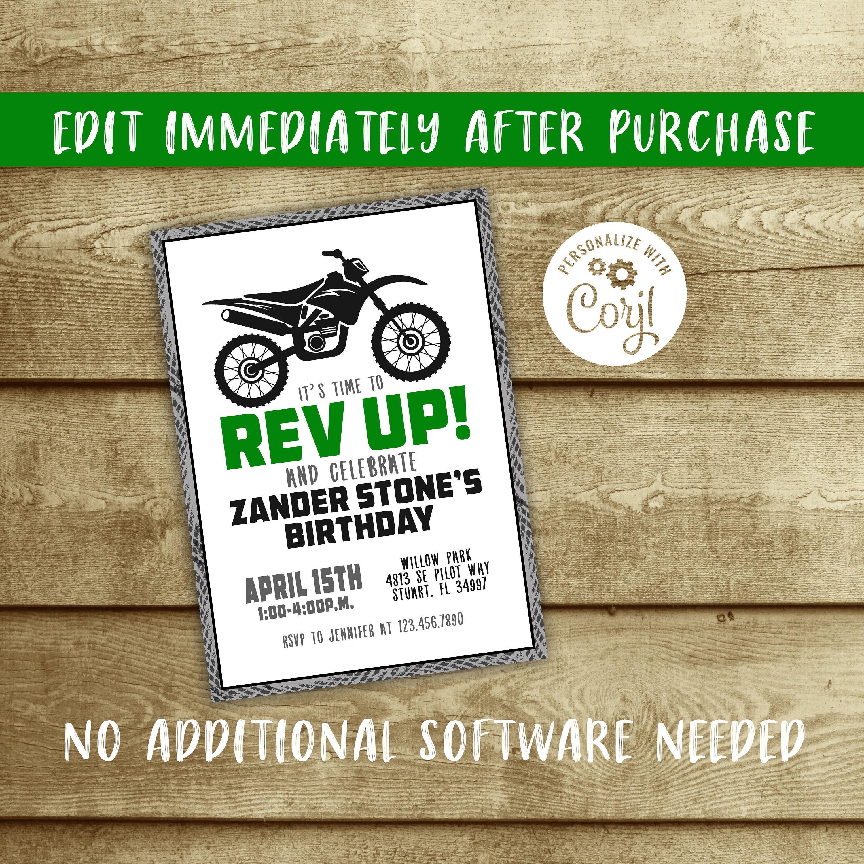 Editable dirt bike boy birthday party invitation instant download editable dirt bike boy birthday party invitation instant download boy birthday invite template filmwisefo