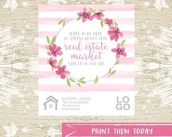 Realtor Floral Pop by Tag for Summer Real Estate Marketing