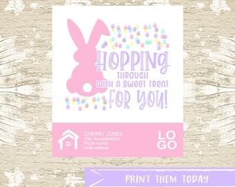 EASTER Spring Pop by Tags, Referral Real Estate Printable Tag, Real Estate Marketing, INSTANT DOWNLOAD
