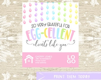 EASTER Spring Pop by Tags, Client Realtor Printable Tag, Real Estate Marketing, INSTANT DOWNLOAD