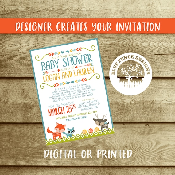 Long Distance Baby Shower Invitation Baby Shower By Mail Etsy