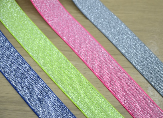 3 Yards Supers 2-inch Elastic Band Rainbow Pattern Waistband Colorful Stretchy Sewing Elastic Trimming