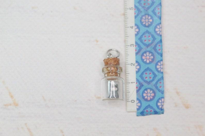 Cat Pendant Pet Charm Mini Glass Bottle Miniature Decoration