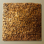 Gold Wall Sculpture - Textured Wall Panel - 3D Wall Art - Abstract Wall Art - Modern Wall Installation - Resin Wall Sculpture