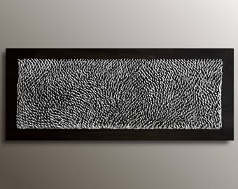 Good 3D Large Wall Art   Organic Texture Wall Sculpture   Black White Wall Art    Wood Abstract Wall Art   Large Wall Decor   Textured Painting