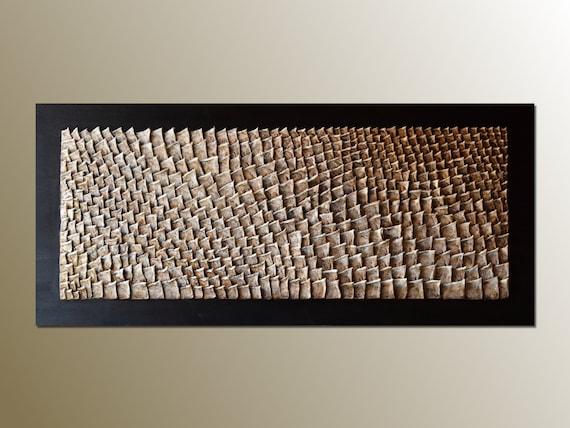 3D Large Wood Wall Art Organic Texture Wall Sculpture | Etsy