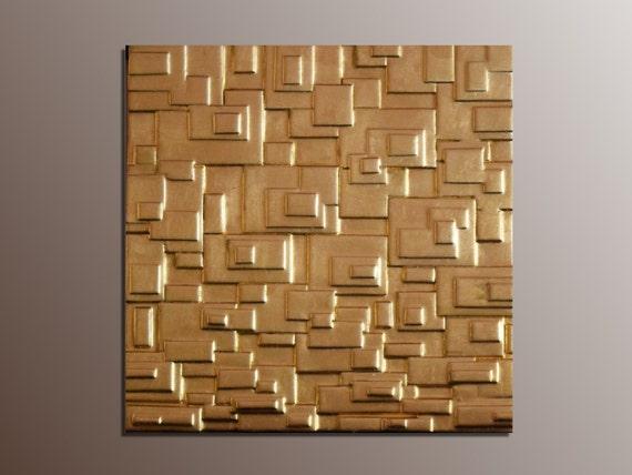 Parete Doro : Pannello d oro scultura da parete in foglia d oro su etsy