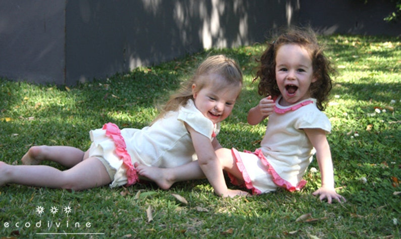 TALLULAH Ruffle Pants Hemp  certified organic pants for little girls Naturally gorgeous Limited edition.