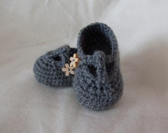 T-Bar Crochet Baby Shoe Booties - Custom - MADE TO ORDER