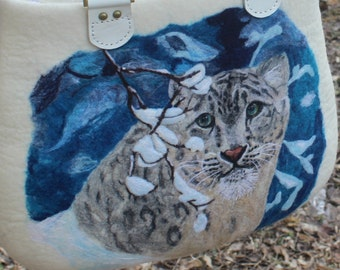 Snow Leopard Felted Booties /& Slippers