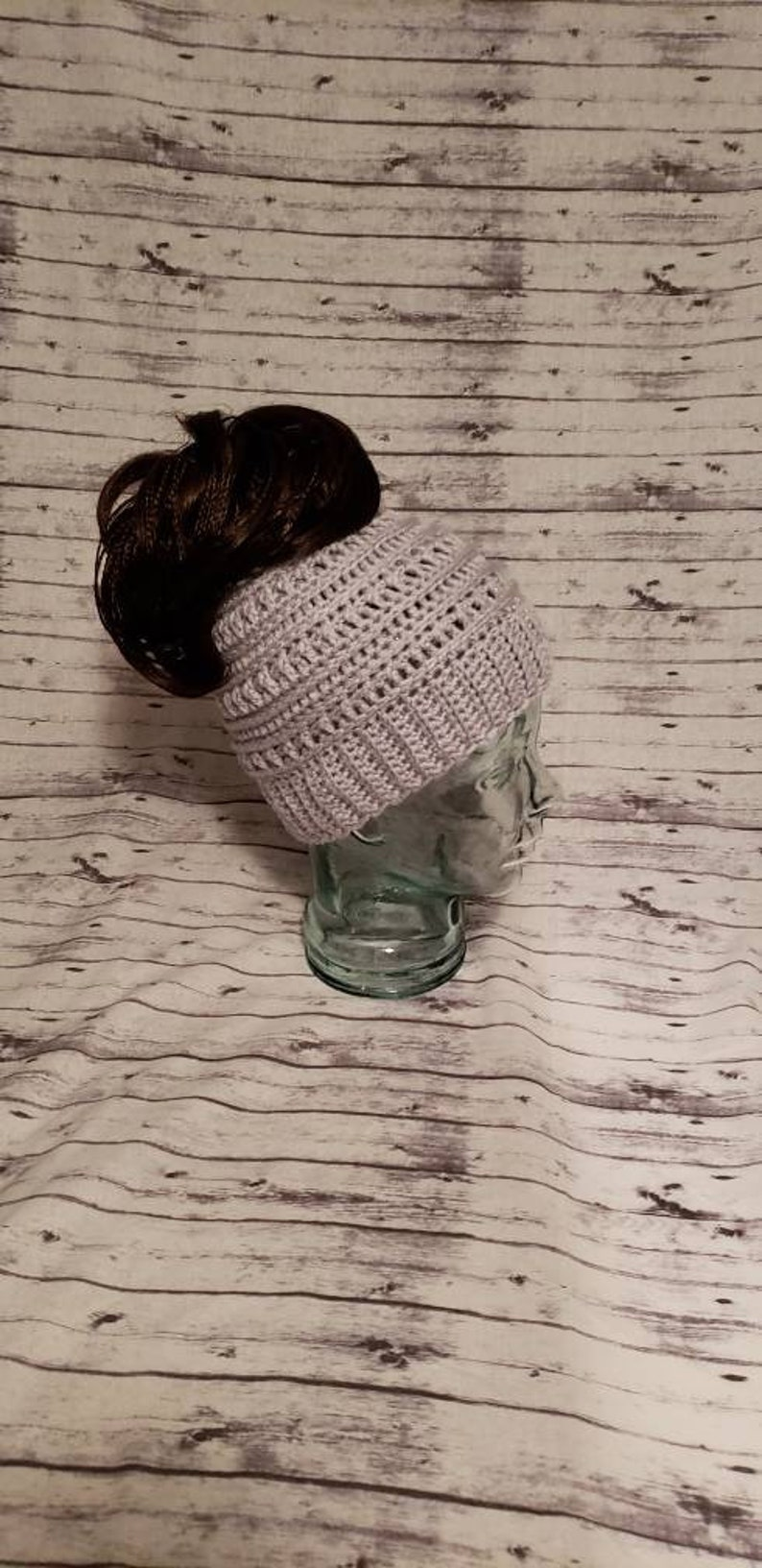 Messy Bun Hat Beanie gift for wife Gray Katniss messy bun hat Katniss Hat Katniss Everdeen Messy Bun Hat Catniss Hat Katniss Beanie