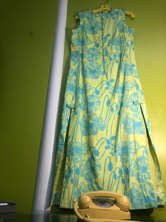 1960s Lilly Pulitzer Maxi Dress with Side Slits