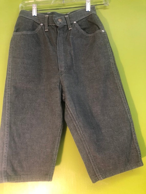 1950s Wrangler Sanforized Grey Denim Shorts