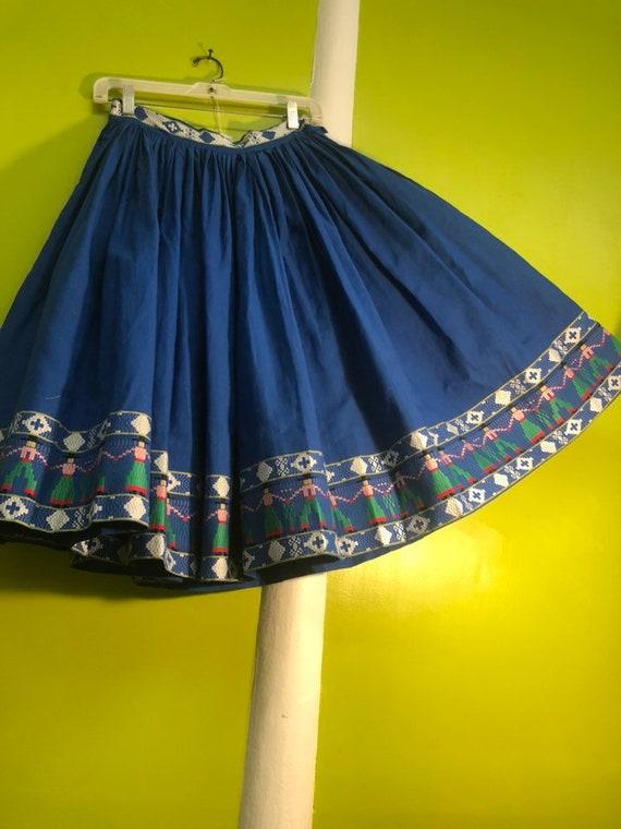 1950s Rockabilly Gaucho Skirt