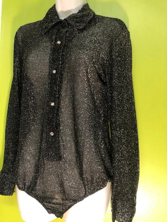 1960s Lurex Bodysuit by Libra