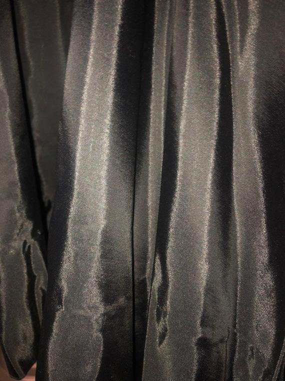 1950s Jr Theme Black Chiffon Cocktail Dress - image 8