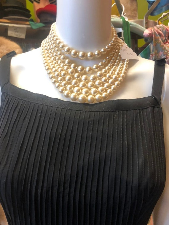 1950s Jr Theme Black Chiffon Cocktail Dress - image 5