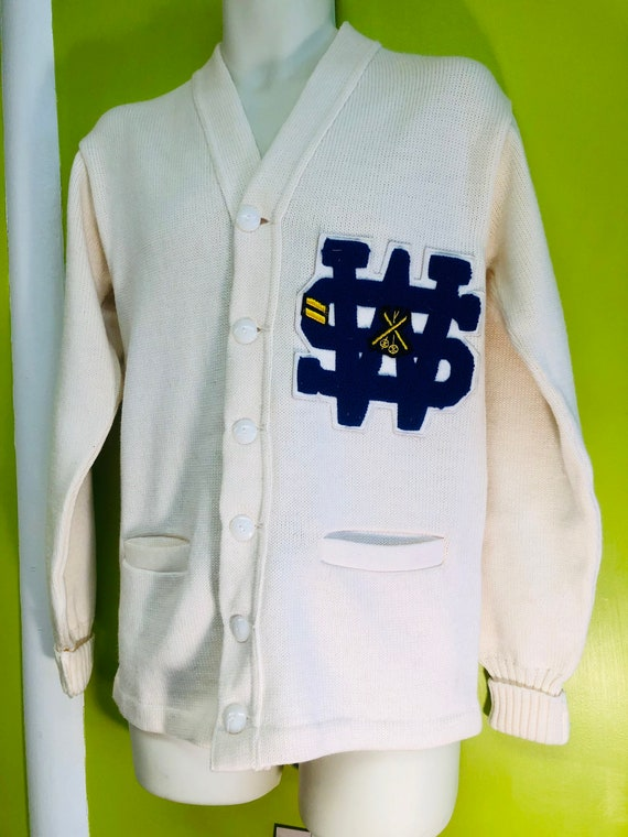 1960s Letterman Ski Team Cardigan Sweater