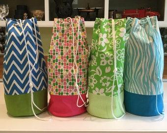 Laundry Duffle, Beach Duffle, Laundry Bag, Camp Laundry Bag, Laundry Hamper
