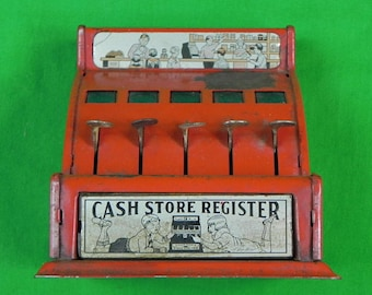 Vintage Antique Old US Toy Cash Store Register Collectable Gift