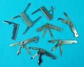 Lot 8 Vintage US Folding Pocket Knife Tool Multi Blade