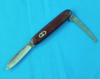 Vintage British English Rodgers Sheffield England 2 Blade Folding Pocket Knife Saw Tool