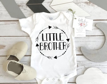 Little brother Onesie®, Little Brother Announcement, Little Brother Reveal, Brothers Shirts, Baby Brother, Little Brother Gift, Baby Brother