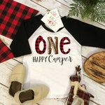 First Birthday Shirt, Lumberjack Birthday, 1st Birthday, Buffalo Plaid Party, Lumberjack Party, ONE HAPPY CAMPER, Wild One Birthday, Plaid