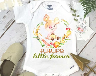 Pregnancy Announcement, Future Little Farmer, Baby Shower Gift, Country Baby Coming, Baby Reveal, Pregnancy Reveal, Future Pig Farmer, Pig