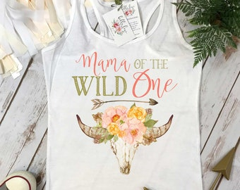 Mama of the Wild One, Wild One Party, Mommy and Me shirts, Mommy and Me Outfits, Wild One Birthday, Wild One theme, Boho Skull, Boho Party