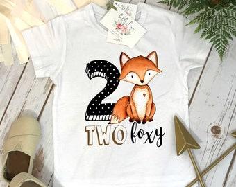 Two Wild, Two Foxy, 2nd Birthday shirt, Woodland Party, Woodland Theme, Woodland Party Set, Two Wild Birthday, 2nd Birthday Shirt, Fox Party