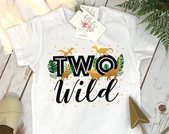 Two Wild Birthday, Two Wild Party, Dinosaur Birthday, Safari Birthday, 2nd Birthday, Dinosaur Party, Rawr Birthday SHIRT, Dinosaurs Theme